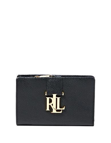 Lauren Ralph Lauren Carrington Compact Leather Wallet-BLACK-One Size