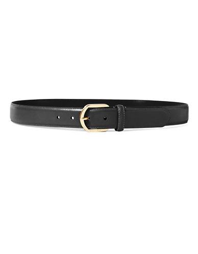 Lauren Ralph Lauren Textured Leather Belt-BLACK-Medium 88590184_BLACK_Medium