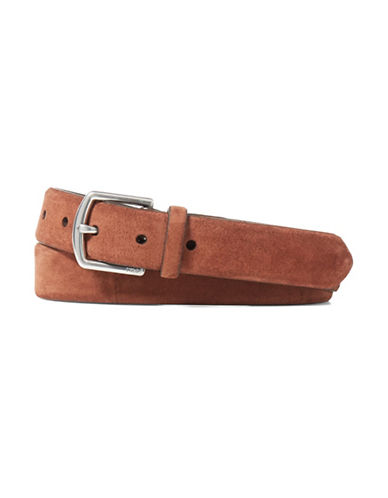 Polo Ralph Lauren Suede Dress Belt-MAHOGANY-42