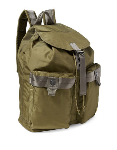 Polo Ralph Lauren Military Nylon Backpack-OLIVE-One Size