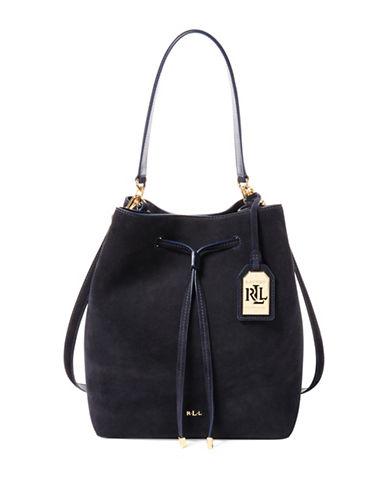 Lauren Ralph Lauren Dryden Debby Drawstring Bag-NAVY-One Size