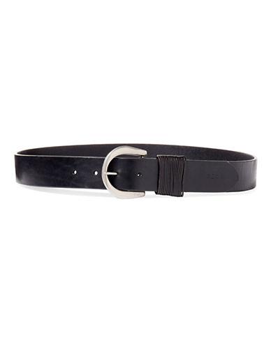 Lauren Ralph Lauren Lauren Jeans Leather Belt-BLACK-Medium 88798511_BLACK_Medium
