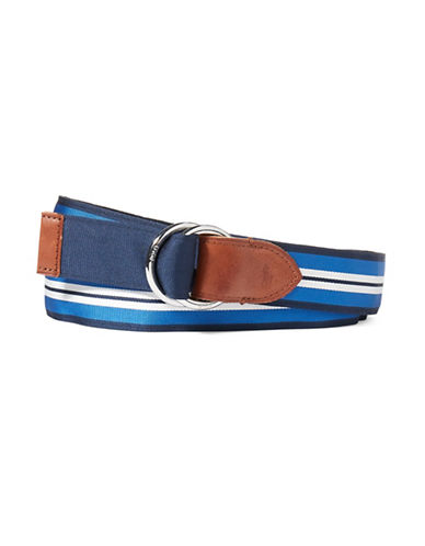 Polo Ralph Lauren Reversible Grosgrain Belt-BLUE-Small