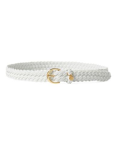 Lauren Ralph Lauren Braided Nylon Belt-WHITE-Large 88900483_WHITE_Large