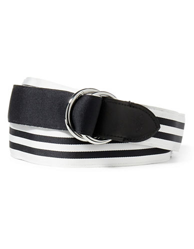 Polo Ralph Lauren Reversible Striped Belt-WHITE-Small