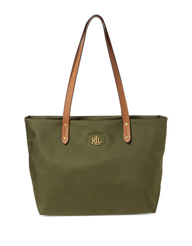 Lauren Ralph Lauren Bainbridge Shopper Tote-GREEN-One Size