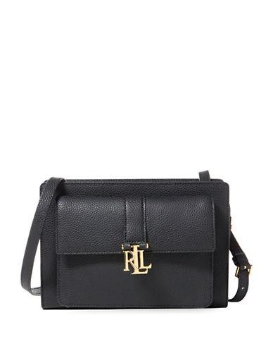 Lauren Ralph Lauren Pebbled Leather Crossbody Bag-BLACK-One Size