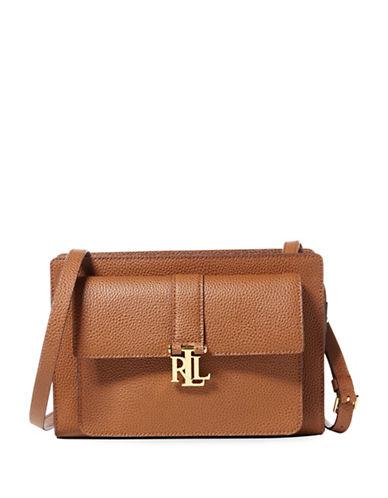 Lauren Ralph Lauren Pebbled Leather Crossbody Bag-BROWN-One Size