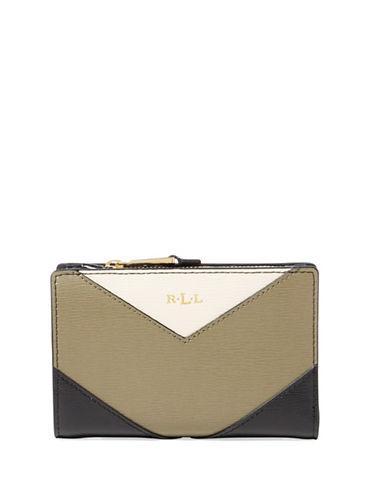 Lauren Ralph Lauren Newbury Compact Saffiano Leather Continental Wallet-SAGE-One Size