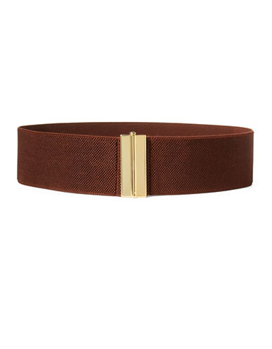 Lauren Ralph Lauren Stretch Belt-BROWN-Medium