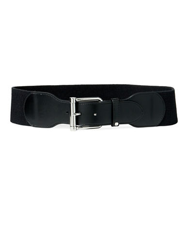 Lauren Ralph Lauren Wide Stretch Belt-BLACK-Medium
