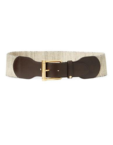 Lauren Ralph Lauren Wide Stretch Belt-BROWN-X-Large