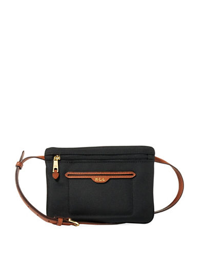 Lauren Ralph Lauren Bainbridge Nylon Belt Bag-BLACK-Small
