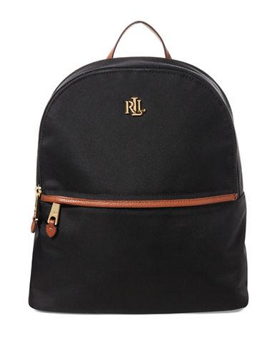 Lauren Ralph Lauren Tami Zippered Backpack-BLACK-One Size