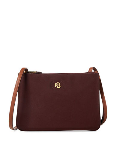 Lauren Ralph Lauren Tara Zip Crossbody Bag-RED-One Size