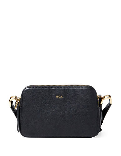 Lauren Ralph Lauren Callie Pebbled Leather Crossbody Bag-BLACK-One Size