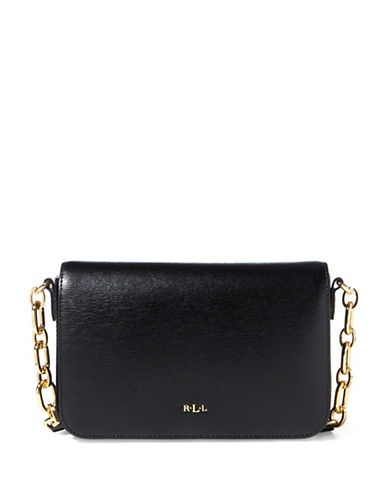 Lauren Ralph Lauren Carmen Leather Crossbody Bag-BLACK-One Size
