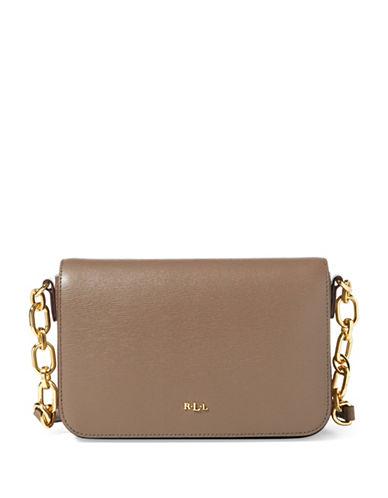 Lauren Ralph Lauren Carmen Leather Crossbody Bag-BROWN-One Size