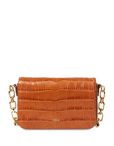 Lauren Ralph Lauren Carmen Croc-Embossed Leather Crossbody Bag-COPPER-One Size
