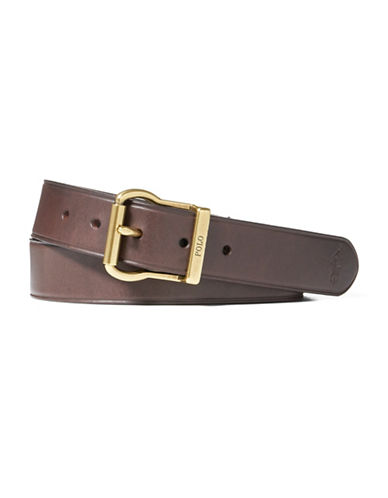 Polo Ralph Lauren Logo Embossed Leather Belt-BROWN-38