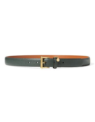Lauren Ralph Lauren Stingray-Embossed Leather Belt-BLACK-Large