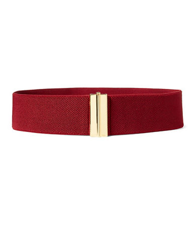 Lauren Ralph Lauren Stretch Buckled Belt-RED-Medium