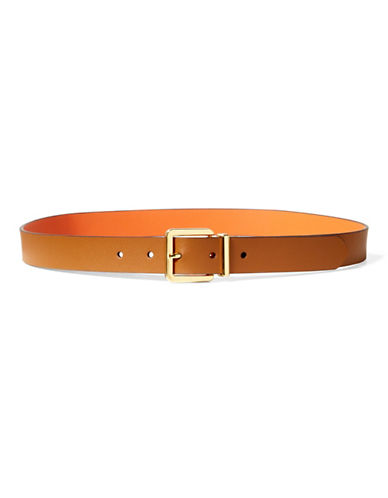 Lauren Ralph Lauren Dryden Reversible Belt-BROWN-Large