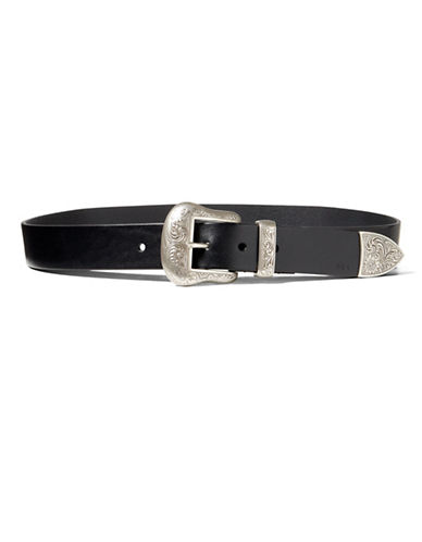 Lauren Ralph Lauren Lauren Western Belt-BLACK-Small