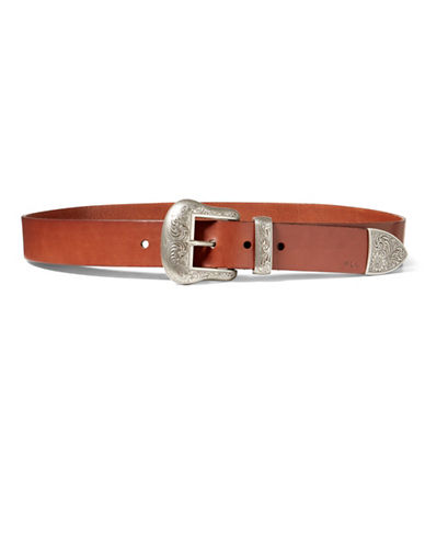 Lauren Ralph Lauren Lauren Western Belt-BROWN-Small