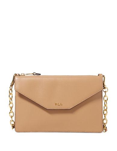 Lauren Ralph Lauren Saffiano Erika Leather Crossbody Bag-PALOMINO-One Size
