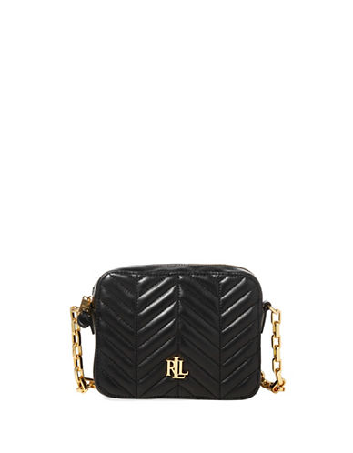 Lauren Ralph Lauren Quilted Leather Crossbody Bag-BLACK-One Size
