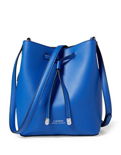 Lauren Ralph Lauren Mini Leather Drawstring Bag-COBALT-One Size