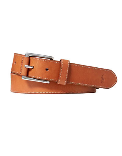 Polo Ralph Lauren Vachetta Leather Belt-BEIGE-38