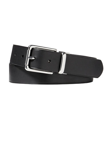Polo Ralph Lauren Reversible Leather Belt-BLACK-38
