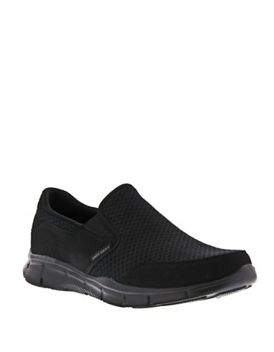 Skechers Equalizer Slip-On Sneakers-BLACK-7.5