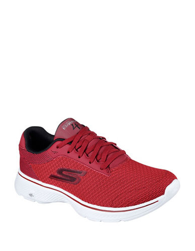 Skechers Mens Go Walk 4 Sneakers-RED-10.5