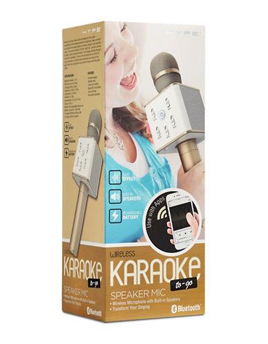 Hype Wireless Karaoke To-Go Speaker Mic-GOLD-One Size