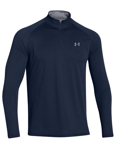 Under Armour Tech  1/4 Zip-NAVY-Large