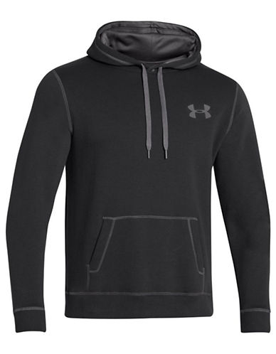 Under Armour Rival Cotton Fleece Hoodie-BLACK-X-Large