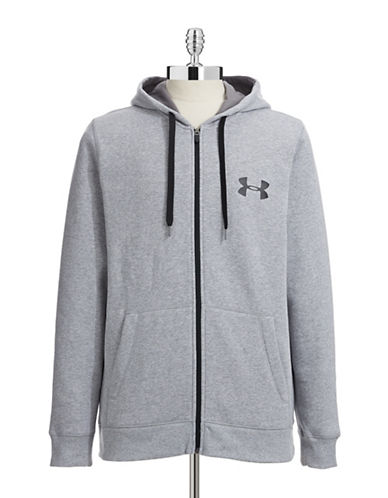Under Armour Loose Fit Zip Hoodie-GREY-Large 87364818_GREY_Large