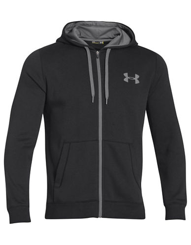 Under Armour Rival Cotton Full Zip Fleece Hoodie-BLACK-X-Large 87679984_BLACK_X-Large