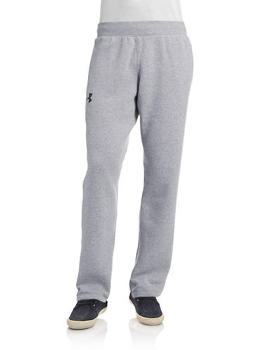 Under Armour Performance Fleece Pants-TRUE GRAY-Large