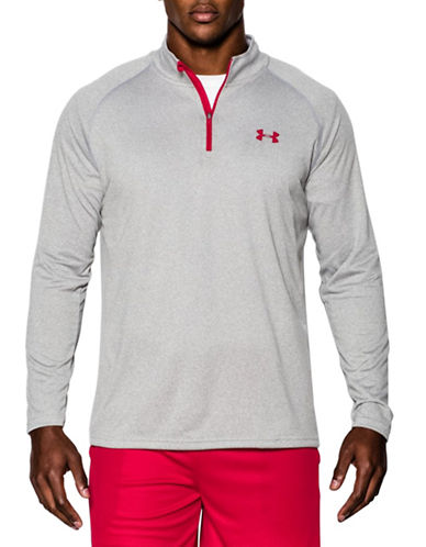 Under Armour Tech Quarter-Zip Sweater-GREY-Medium 88137081_GREY_Medium