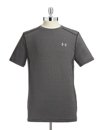 Under Armour Fitted HeatGear T-Shirt-GREY-Large 87364933_GREY_Large