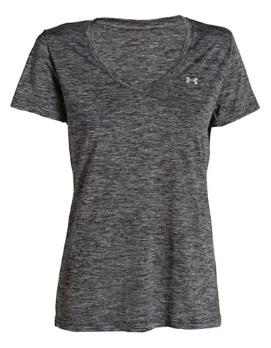 Under Armour Novelty Tech V-Neck Tee-GREY-Small 87715040_GREY_Small