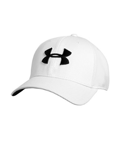 Under Armour Blitzing II Stretch Fit Cap-WHITE-Medium/Large 87866631_WHITE_Medium/Large
