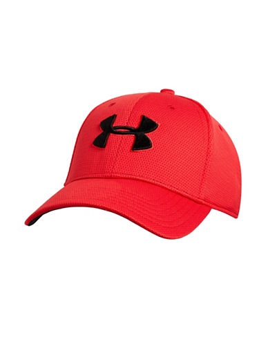 Under Armour Blitzing II Stretch Fit Cap-RED-Medium/Large