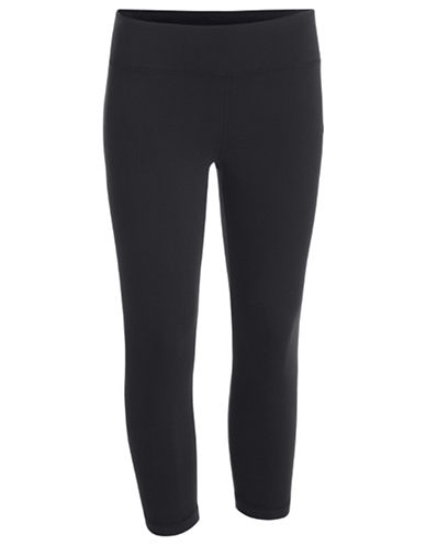 Under Armour StudioLux Capri Leggings-BLACK-X-Large 87395947_BLACK_X-Large