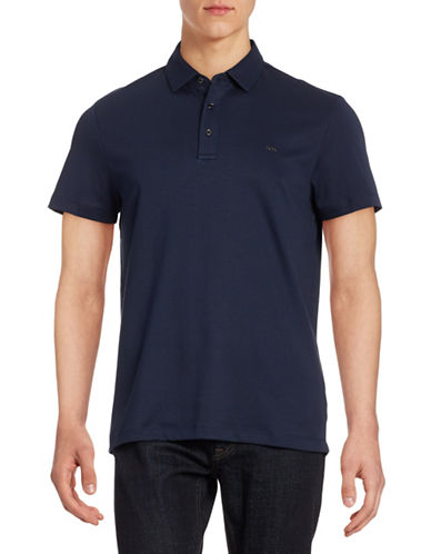 Michael Kors Sleek Cotton Polo-MIDNIGHT-X-Large