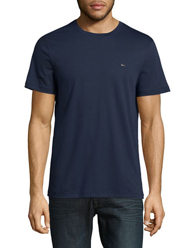 Michael Kors Sleek Crew Neck T-Shirt-MIDNIGHT-Large
